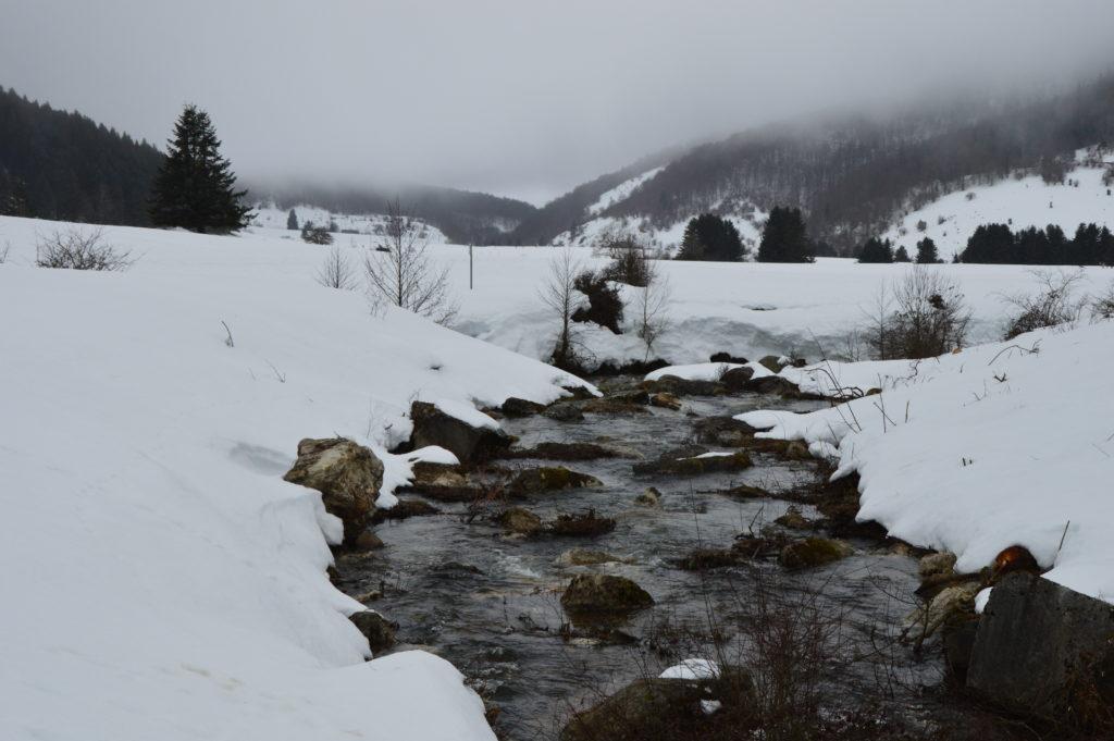 Lac gelé-Montagne-Payolle
